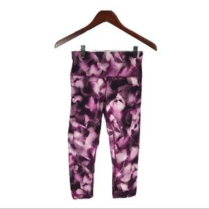 Lululemon Wunder Under Crop- Blush Blossom, Size 6